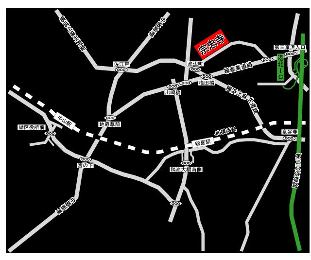 『宗忠寺』アクセス地図